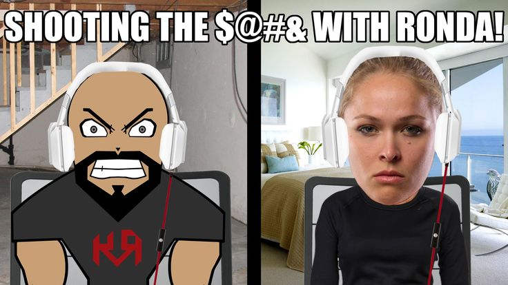 SHOOTING THE $%#& WITH RONDA ROUSEY!!!