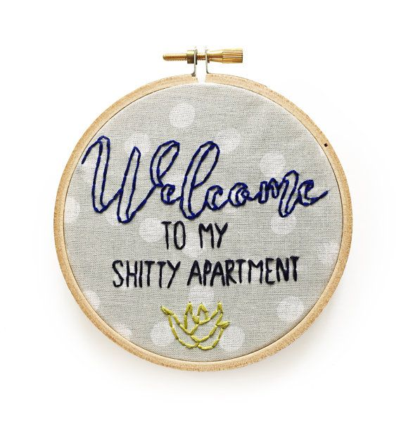 Welcome to my Shitty Apartment Succulent Embroidery by 622press