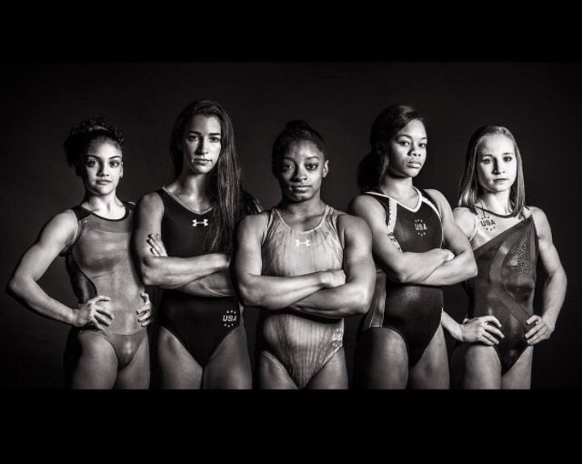 2016 Olympic Gymnastics Team! Laurie Hernandez, Aly Raisman, Simone Biles, Gabby Douglas, Madison Kocian