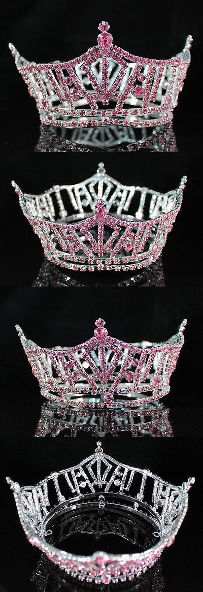Bridal Jewelry 163552: Miss America Full Crown Pink Austrian Rhinestone Tiara Pageant Prom Party T1297p -> BUY IT NOW ONLY: $34.99 on eBay!