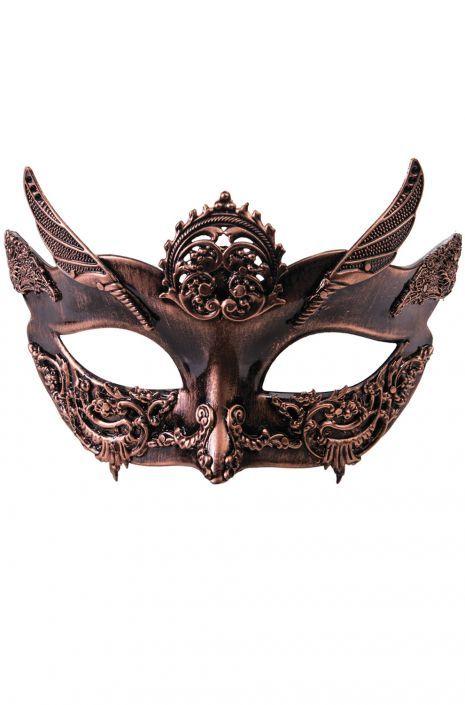 Female Steampunk Masquerade Mask (Bronze)