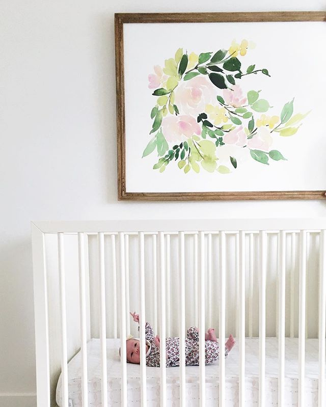 Still lots to do in baby Ivy's nursery, but I love the where it's going!  {tap for links}