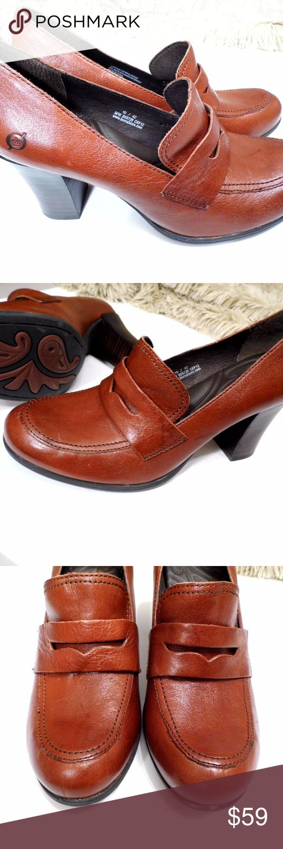 Born Brown Penny Loafers with block heels Excellent used condition. Like new! Very nice! Born Shoes