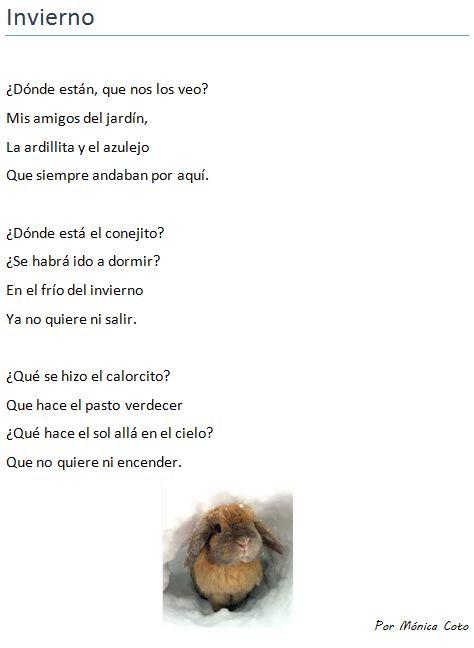 Poema infantil. Poema como texto informativo. Naturaleza ...