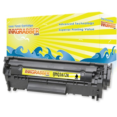 InkGrabber.com Remanufactured HP Q2612A (12A) Black Laser Toner Cartridge (2,000 Yield) (HP LaserJet 3030, HP LaserJet 3020, HP LaserJet 3015, HP LaserJet 1012, HP LaserJet 1018, HP LaserJet 1020, HP LaserJet 1022, HP LaserJet 1022N, HP LaserJet 1022NW, HP LaserJet 3050, HP LaserJet 3055, HP LaserJet 3052, HP LaserJet M1319F MFP, HP LaserJet 1010, HP LaserJet 1015, HP LaserJet M1319, HP LaserJet M1005-MFP)