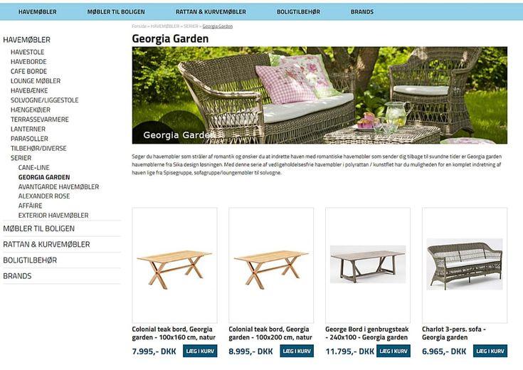 Sika Møbler - flotte danske havemøbler i smarte designs og i høj kvalitet.