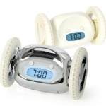 Clocky -  The alarm clock that runs away from you. Why you pesky little *#%!