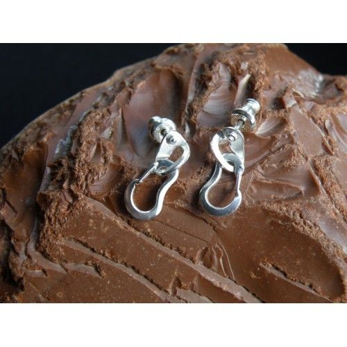 Climbing Bolt Hanger Earrings with Two Climbing Carabiners  #carabiner #earrings #rock #climbing #jewelry #bolt #hanger #climber #bouldering #klettern