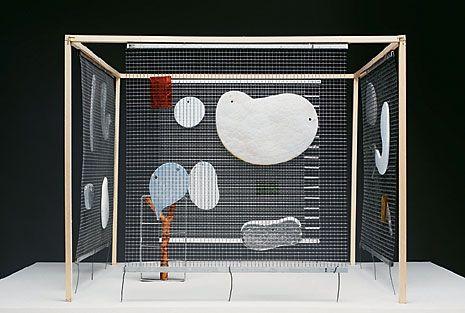 Maquette The Gazebo Project; 2010 réalisé pour la Fondation Cartier pour l'art contemporain Paris, bois, métal, verre. Collection Mouvement Moderne