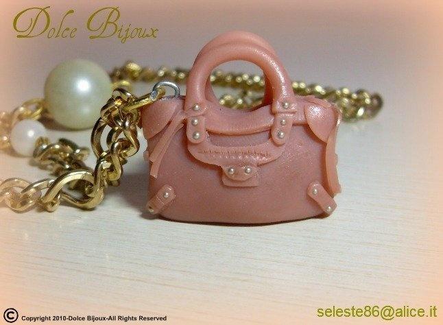 Borsa in miniatura Balenciaga City color caramello realizzata a mano in fimo cernit..., by Dolce Bijoux, 11,00 € su misshobby.com