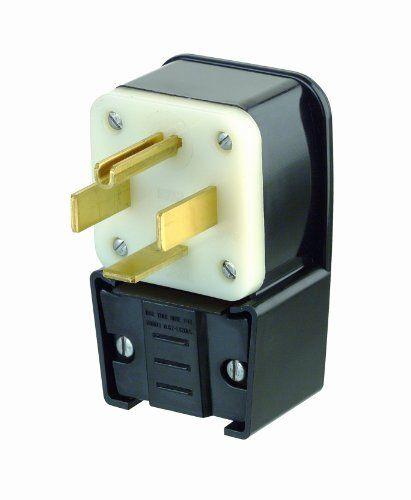 Leviton 9462P 60 Amp, 125/250 Volt, Straight Blade, Plug