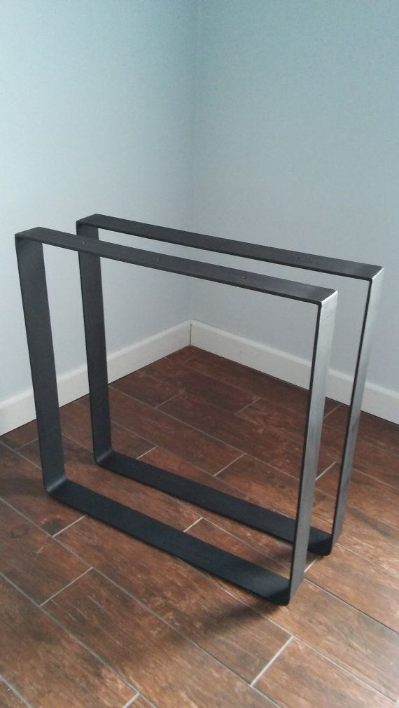 Steel dine table base 1/4 Thick Flat bar with top cross plate Dining Iron z@ table leg Set of 2 $200