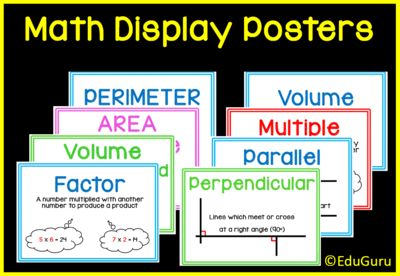 "FREE Mathematics Definition Posters from EduGuru on TeachersNotebook.com -  (14 pages)  - This is a set of 14 colourful printable A4 posters to ""spice up"" your mathematics classroom. They cover mathematics definitions that meets common core standards."