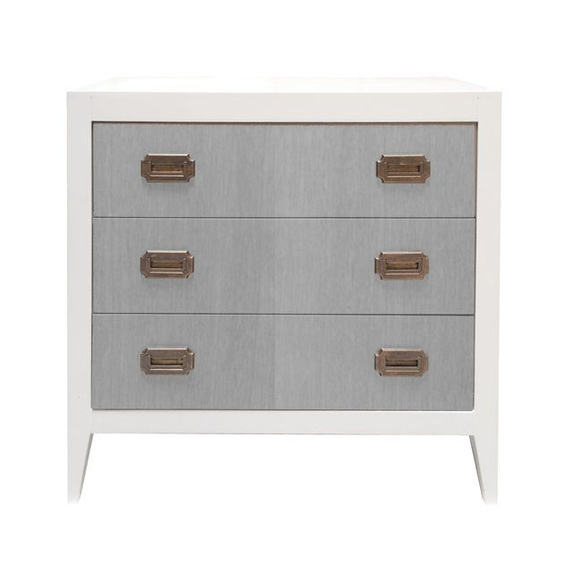 Devon Changing Table/Dresser in White/Stained Gray - love the modern look of this piece! #PNshop