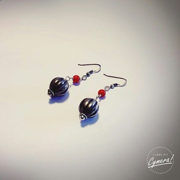 10 € Earrings(Hook silver 925) Coral and tibetan silver