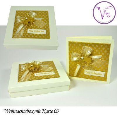 Weihnachtsverpackung - Box mit Weihnachtskarte  Nr. 03 ... eine tolle Idee um Gutscheine oder Geld originell zu verpacken ...