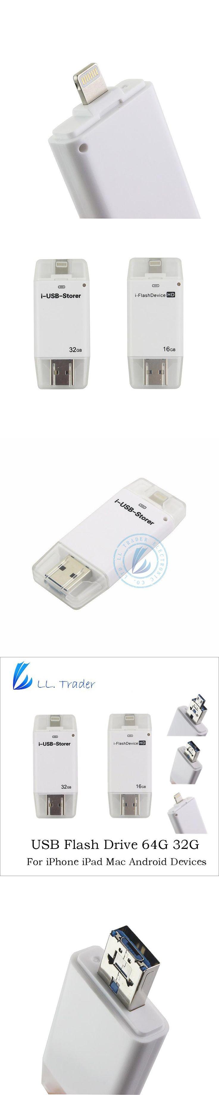 LL TRADER 64GB 32GB 16GB Mini iOS OTG USB i-Flash Drive For iPhone iPad Android PC Flash Drive Storage Pendrive Memory USB Stick