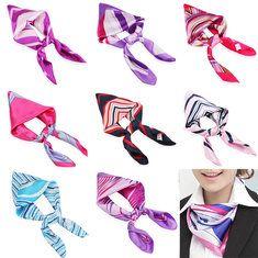 #Banggood Сочетание цветов женские шелковые шарфы шарф платок авиакомпания стюардесса бизнес-износ (978259) #SuperDeals