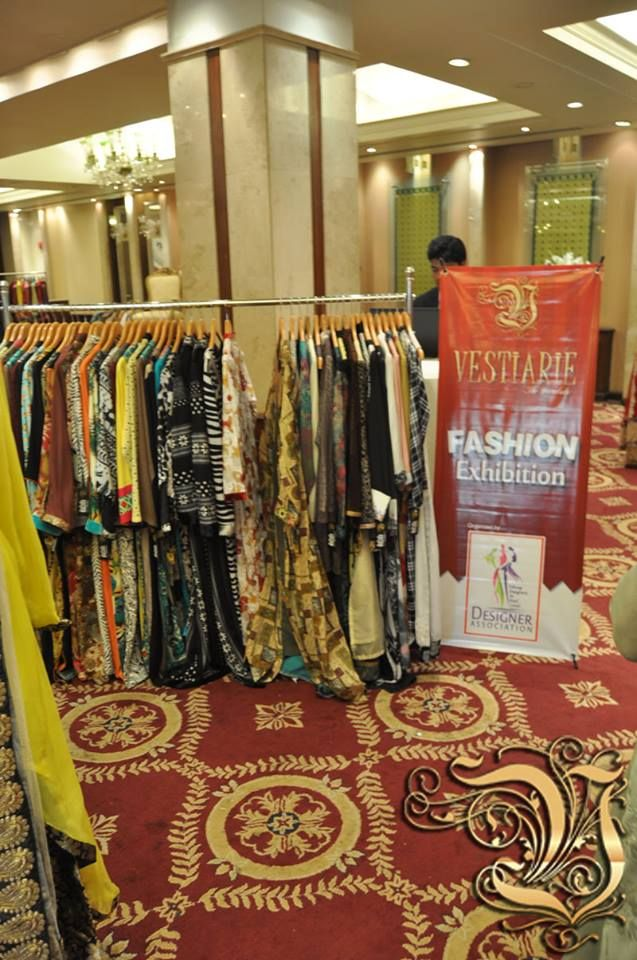 Vestiarie Standee and Fabrics Place in PC Rawalpindi at Fashion Exhibition 4 March 2014