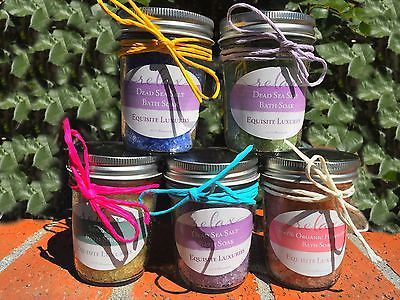 awesome Homemade 8oz. Bath Salts & Scrubs - For Sale View more at http://shipperscentral.com/wp/product/homemade-8oz-bath-salts-scrubs-for-sale/
