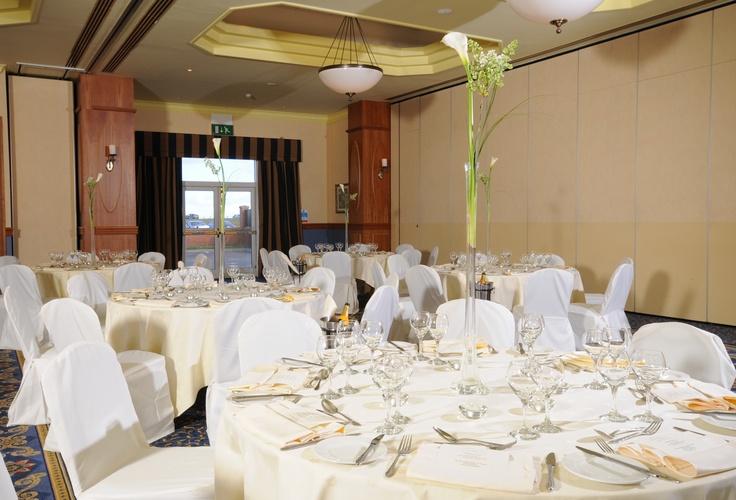 Wedding Reception Dinner Tables Setup