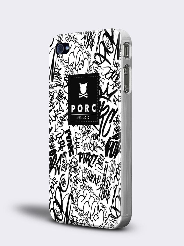 """Scribble"" White iPhone 4 / 4S Case"