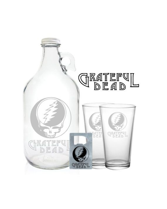 Grateful Dead Growler 64oz Beer Growler with by PeerlessCustom