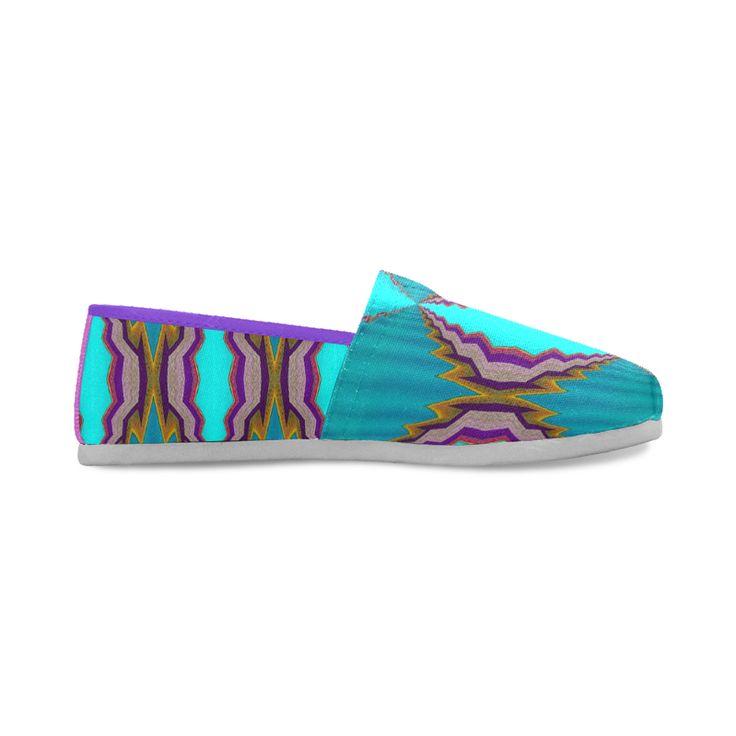 light blue pattern-annabellerockz Casual Shoes for Women(Model004)
