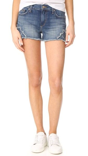 37bd42ea6d362 Cutoff Crochet Denim Shorts In Thula