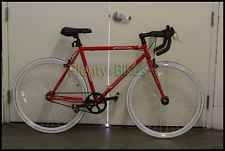 Red/White 53cm 700c Micargi RD267 Fixie Single Speed Road Bike Bicycle 509120