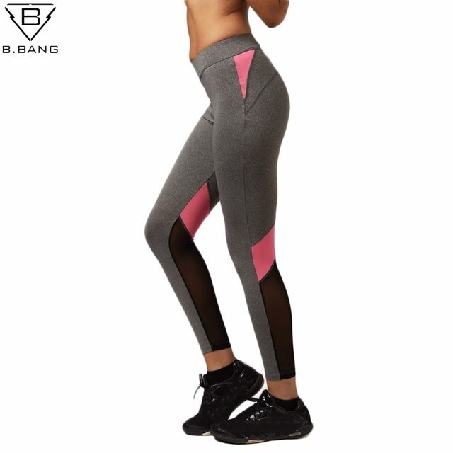 Женщины Йоги Штаны Выдалбливают Чистой Пряжи Сплайсинга Йоги Капри для Бега Спорт быстросохнущие Фитнес колготки Женщина Леггинсы
