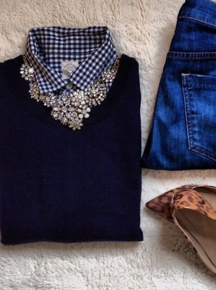 Flannel and jewels.