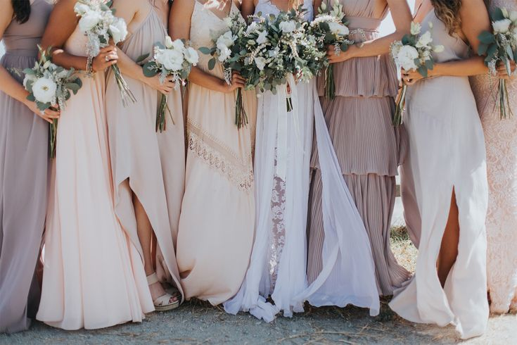 Andrew and Kirsten's dreamy beachside wedding in California, featuring our signature Hollie gown.