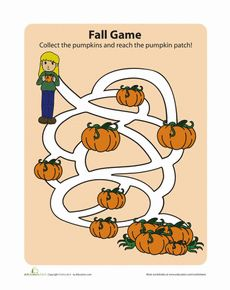Fall Maze Worksheet