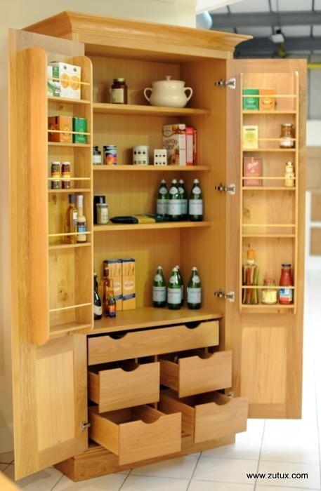 J Large Oak Larder Cupboard image