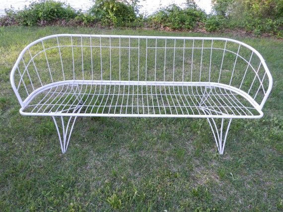 HOMECREST Mid Century Settee by ModernInspiration on Etsy $495 00 garden