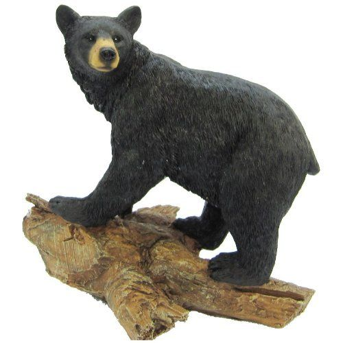 Ll Home Bear Standing On Tree Trunk Statue By LL Home. $15.58. Rustic  Decor. Realistic Looking. Made Of Poly Resin. A Black Bear Standing On A  Treeu2026