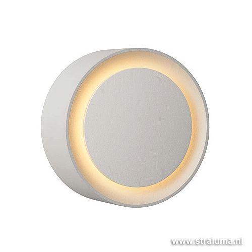 Badkamer wandlamp LED Laura rond wit | Straluma