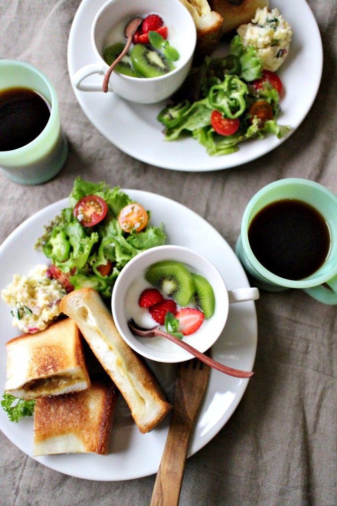 食パンで手作りカレーパンのワンプレート - 朝時間.jp 本日のワンプレート