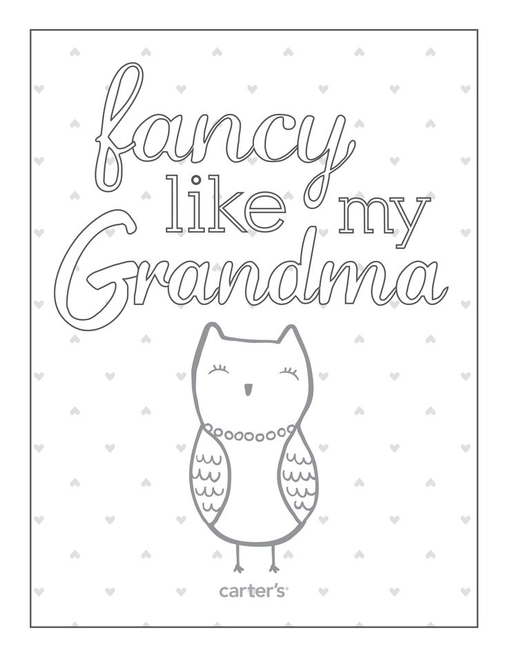 download free grandparents day coloring pages from carters