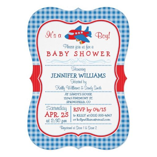 443 best Airplane Baby Shower Invitations images on Pinterest Baby