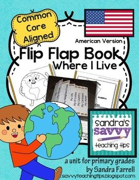 Mapping - USA Flip Flap Book