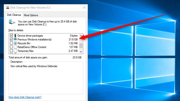 Run Disk Cleanup After the Windows November Update to Save 20GB+ of Space - #Windows10