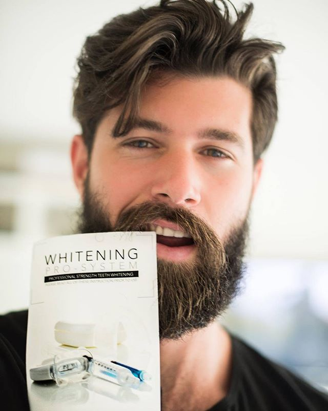Burly beards and pearly whites. Flash a brighter smile with our Whitening Pro…