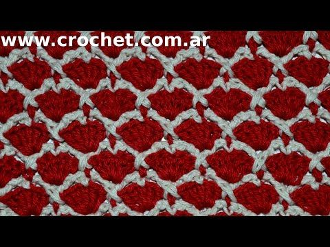 Download video: Punto Fantasía N° 33 en tejido crochet tutorial paso a paso.