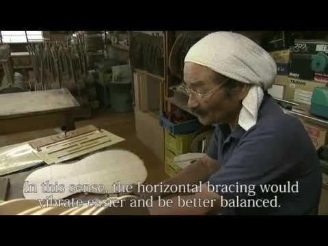 Master guitar maker Masaki Sakurai. In Japanese with English subs