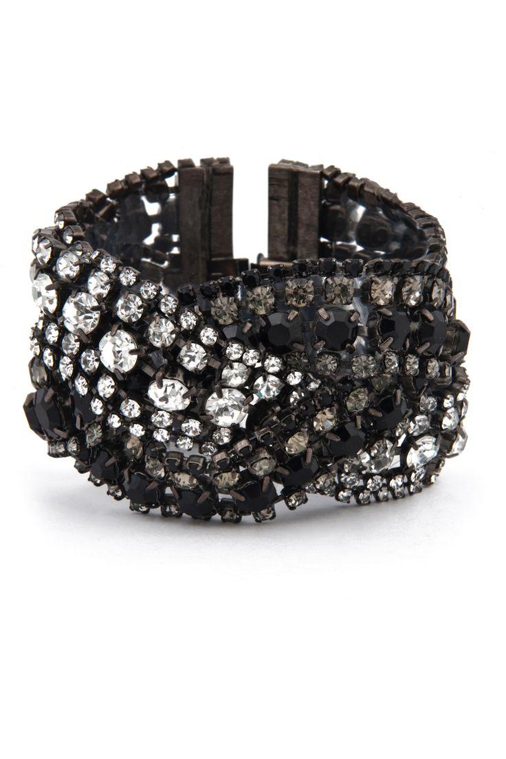 Triple Black Diamond Bracelet by Elizabeth Cole