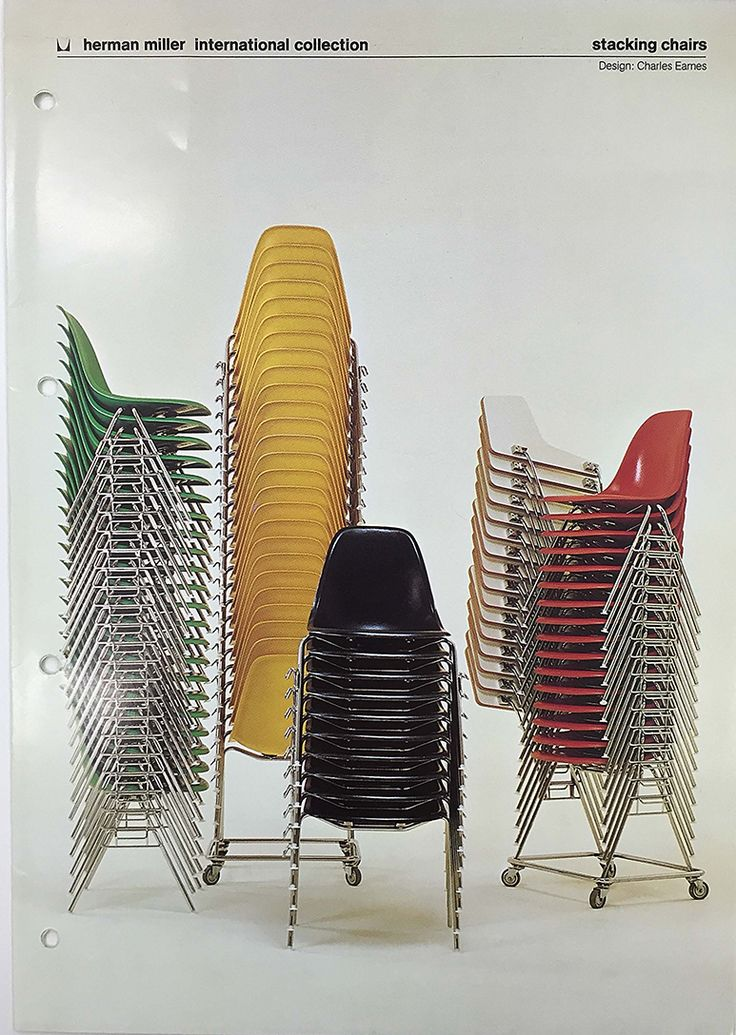 Authentic #Eames DSS chairs by @vitra @vitrahaus Vintage Herman Miller Collection catalog