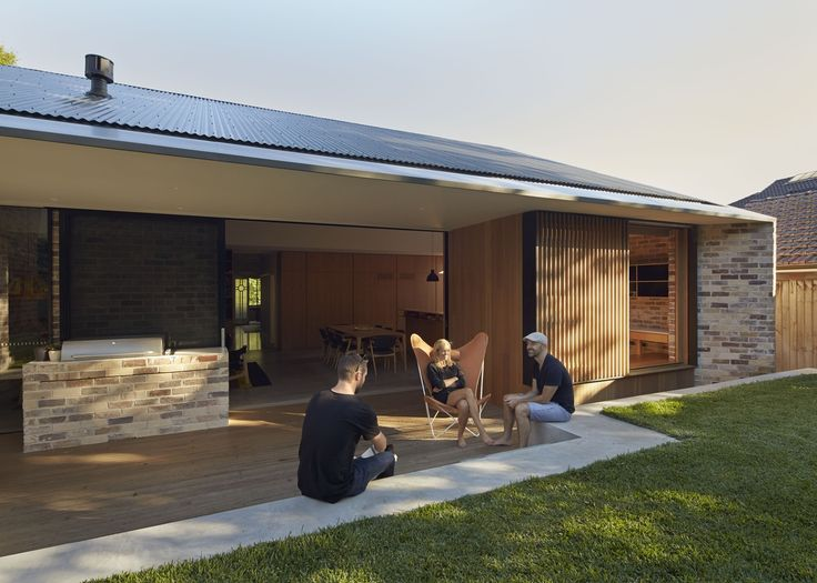 Let there be light: Skylight House | ArchitectureAU Brick, timber screens, cladding and decking. Concealed box gutter in the Colorbond roof line.
