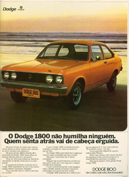 Publicidades antigas de carros: Dodge